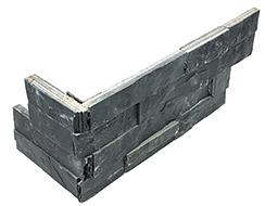 "6""x18"" Carbon Ledger Stone Assembled Corner 76-369"