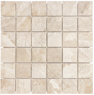 """2""""x2"""" Impero Reale Honed Marble Mosaic Tile 76-412"""