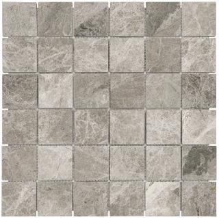 "2""x2"" Phantasie Gray Polished Marble Mosaic Tile 76-427"