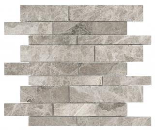 Phantasie Gray Random Strip Polished Marble Mosaic Tile 76-428