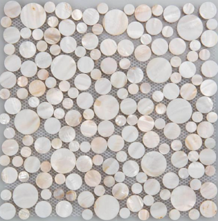 "Milstone - Pearl Penny Round Mosaic 3123030 (11.81""x11.81"" sheet)"
