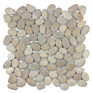 Anatolia - Spa Driftwood Tan Natural Pebble Mosaic Tile