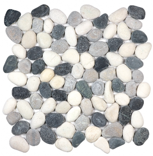 Anatolia - Spa Tranquil Cool Blend Natural Pebble Mosaic Tile