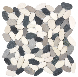 Anatolia - Spa Tranquil Cool Blend Flat Pebble Mosaic Tile