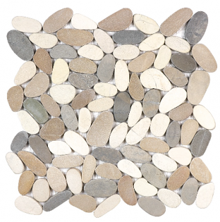 Anatolia - Spa Harmony Warm Blend Flat Pebble Mosaic Tile