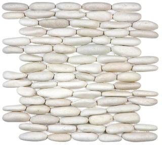 Anatolia - Spa Serenity Ivory Stacked Pebble Mosaic Tile