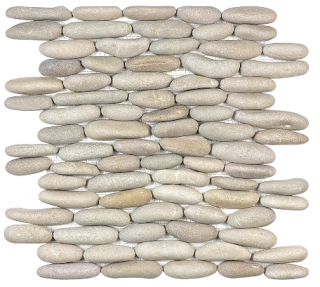 Anatolia - Spa Driftwood Tan Stacked Pebble Mosaic Tile
