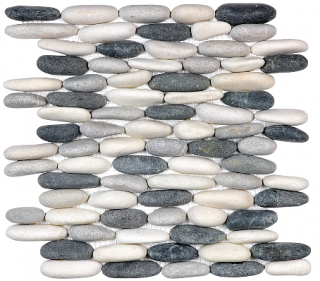 Anatolia - Spa Tranquil Cool Blend Stacked Pebble Mosaic Tile