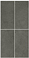 """American Olean - 12""""x24"""" Concrete Chic Stylish Charcoal Tile"""