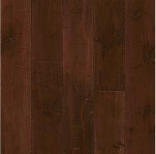 """Hartco - American Scrape 3/4""""x5"""" Cranberry Woods Solid Maple Hardwood Flooring"""