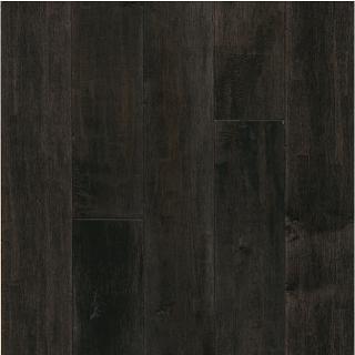 "Hartco - American Scrape 3/4""x5"" Dark Lava Solid Maple Hardwood Flooring"