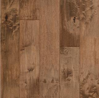 "Hartco - American Scrape 3/4""x5"" Gold Rush Solid Maple Hardwood Flooring"