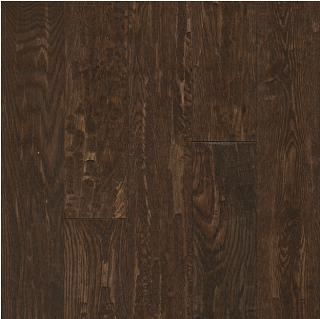 "Hartco - American Scrape 3/4""x5"" Brown Saddle Solid Oak Hardwood Flooring"