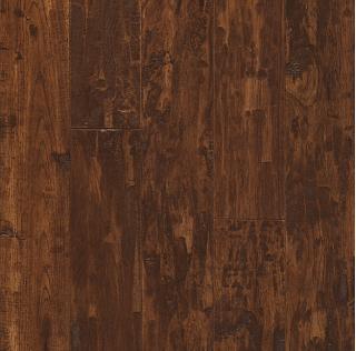"Hartco - American Scrape 3/4""x3-1/4"" Candy Apple Solid Hickory Hardwood Flooring"