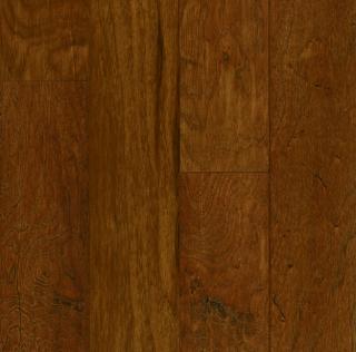 """Hartco - American Scrape 3/8""""x5"""" Autumn Blaze Engineered Hickory Hardwood Flooring w/ Densitek"""