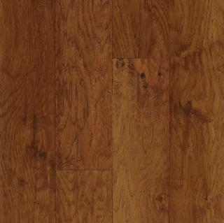 """Hartco - American Scrape 3/8""""x5"""" Cajun Spice Hickory Engineered Hardwood Flooring w/ Densitek"""