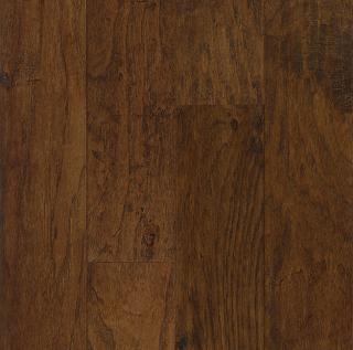 """Hartco - American Scrape 3/8""""x5"""" Wilderness Brown Hickory Engineered Hardwood Flooring w/ Densitek"""