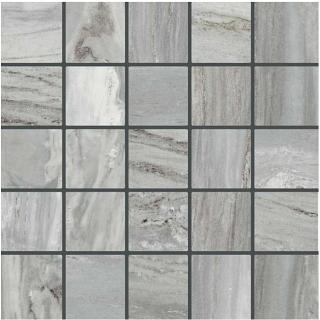 "Happy Floors - Bellagio 2.4""x2.4"" Silver Mosaic Tile (12""x12"" Sheet)"
