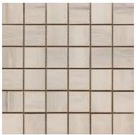 "Happy Floors - 2""x2"" Paint Stone White Mosaic (12""x12"" Sheet)"