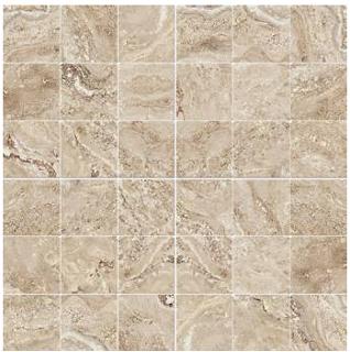 "Happy Floors - 2""x2"" Antalya Beige Mosaic (12""x12"" Sheet)"