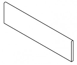 "Happy Floors - 3""x12"" Contempo White Bullnose"