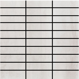 "Happy Floors - 1-1/4""x4"" Contempo White Mosaic (12""x12"" Sheet)"