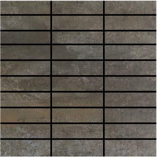 "Happy Floors - 1-1/4""x4"" Contempo Graphite Mosaic (12""x12"" Sheet)"