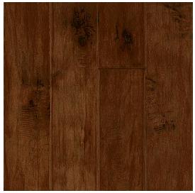 "Hartco - Rural Living Burnt Cinnamon 1/2"" Thick x 5"" Wide Maple Engineered Hardwood Flooring w/ Densitek (Low Gloss)"