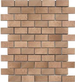 "American Olean - Refined Metals Bronze Blend 2x1 Brick Joint Mosaic (10-5/8""x12-11/16"" Sheet)"