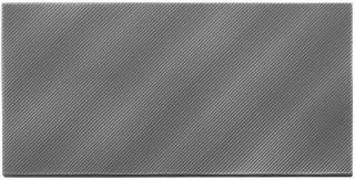 American Olean - Refined Metals 4x8 Gunmetal Gloss Wave Tile