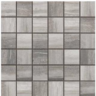 "Happy Floors - 2""x2"" Tivoli Grigio Mosaic (12""x12"" Sheet)"
