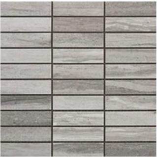 "Happy Floors - 1-1/4""x4"" Tivoli Grigio Mosaic (12""x12"" Sheet)"