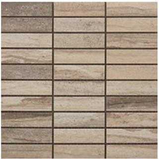 """Happy Floors - 1-1/4""""x4"""" Tivoli Dorato Mosaic (12""""x12"""" Sheet)"""
