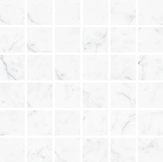 """Vallelunga - 2""""x2"""" Carrara Porcelain Mosaic Tile"""