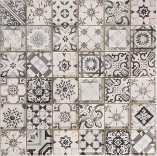 "Arvex - 2""x2"" Digital Printed Glass & Stone Mosaic CE16 H-48A-3 (11.8""x11.8"" Sheet)"
