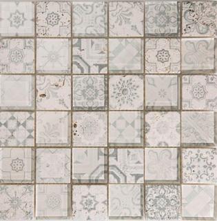 "Arvex - 2""x2"" Digital Printed Glass & Stone Mosaic CE16 H-48A-4 (11.8""x11.8"" Sheet)"