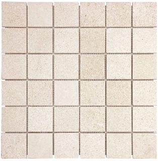 "2""x2"" Serene Ivory Polished Limestone Mosaic Tile 76-437 (12""x12"" Sheet)"
