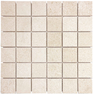 "2""x2"" Serene Ivory Honed Limestone Mosaic Tile 76-442 (12""x12"" Sheet)"