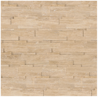 """6""""x24"""" Siena Avorio Veincut Travertine Honed Cubics Panel 73-360"""