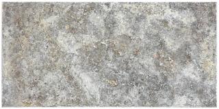 "8""x16"" Silver Ash Chiseled & Brushed Travertine Tile 73-566"