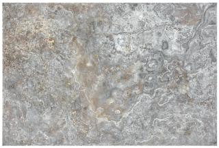 "16""x24"" Silver Ash Chiseled & Brushed Travertine Tile 73-568"