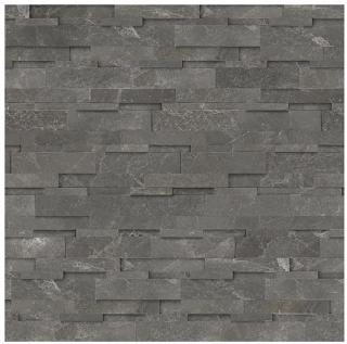 """6""""x24"""" Stark Carbon Cubics Polished Marble Wall Panel 72-615"""