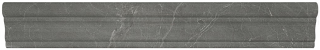 """2""""x12"""" Stark Carbon Polished Marble Chair Rail Molding 77-401"""