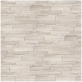 "6""x24"" Strada Mist Veincut Marble Honed Cubics Panel 72-611"