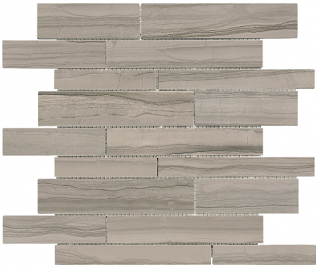 Xylo Mica Polished Marble Random Strip Mosaic Tile 76-402