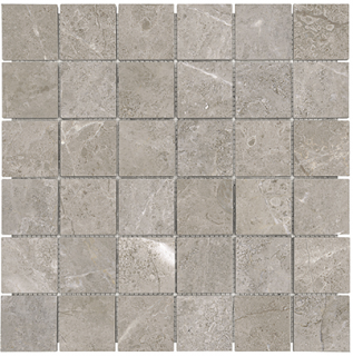 "2""x2"" Ritz Gray Honed Marble Mosaic Tile 76-479"