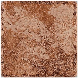 """Happy Floors - 16""""x16"""" Pietra D'Assisi Rosso Porcelain Tile"""