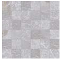"""Acif - 2""""x2"""" Stonetrace Grey Mosaic Tile (12""""x12"""" Sheet)"""