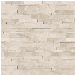 """6""""x24"""" Impero Reale Honed Marble Cubics Wall Panel 72-613"""