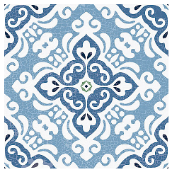 "Ceracasa - 9""x9"" Urban Deco Antic 5 Tile"